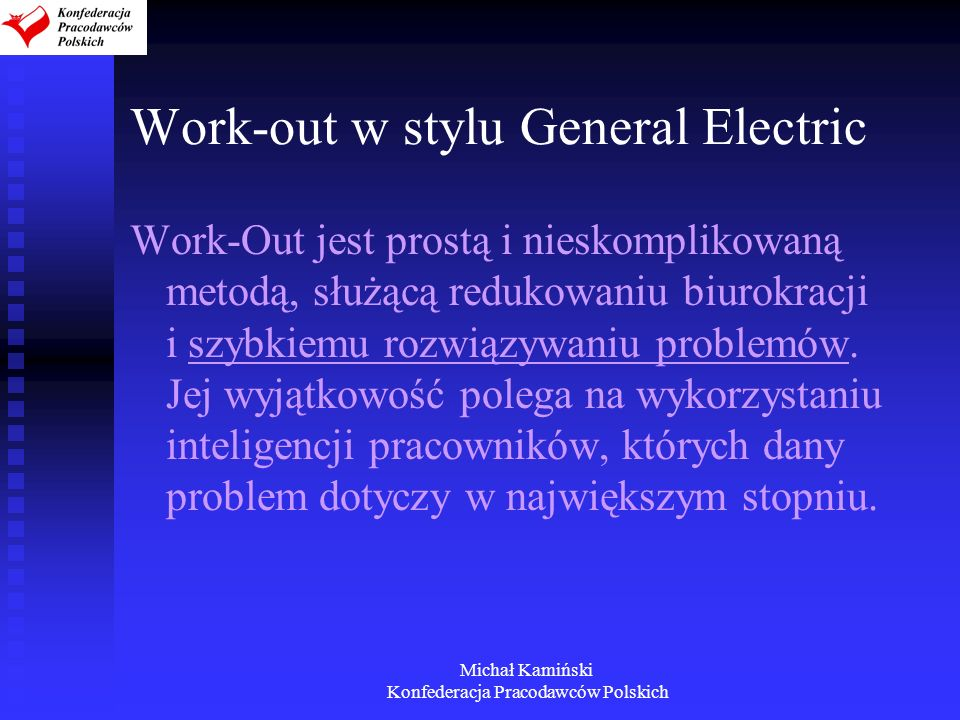 Work-out w stylu General Electric