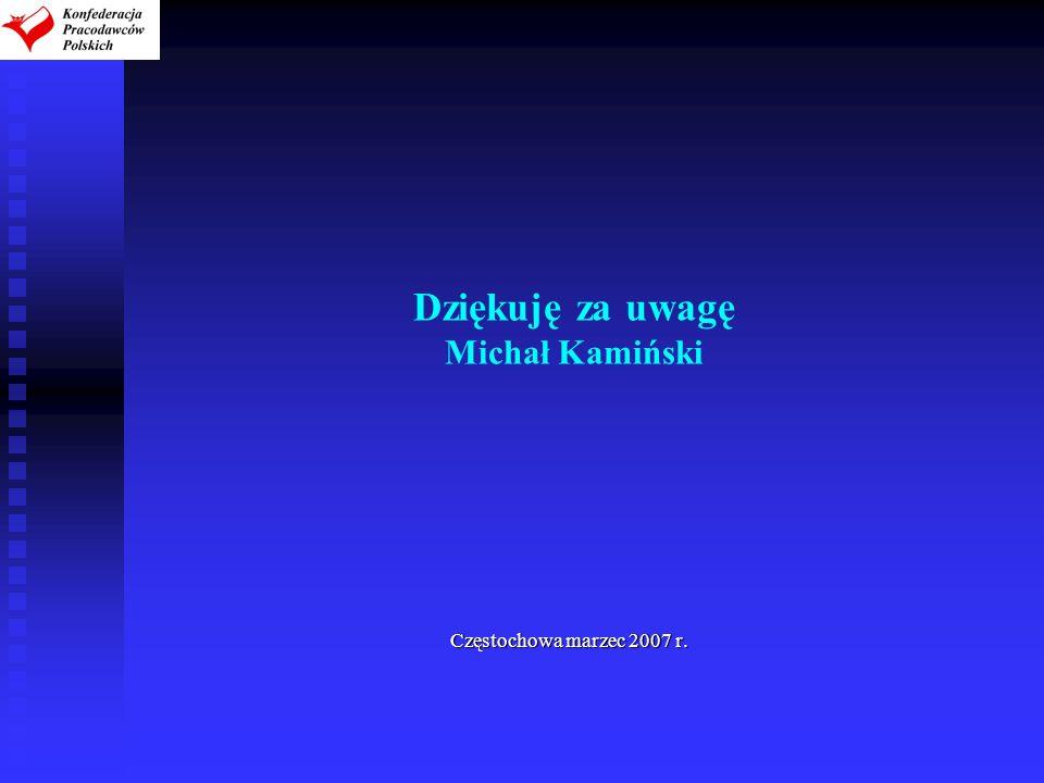 Dziękuję za uwagę Michał Kamiński