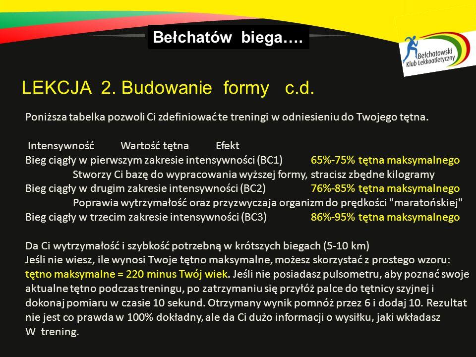 LEKCJA 2. Budowanie formy c.d.