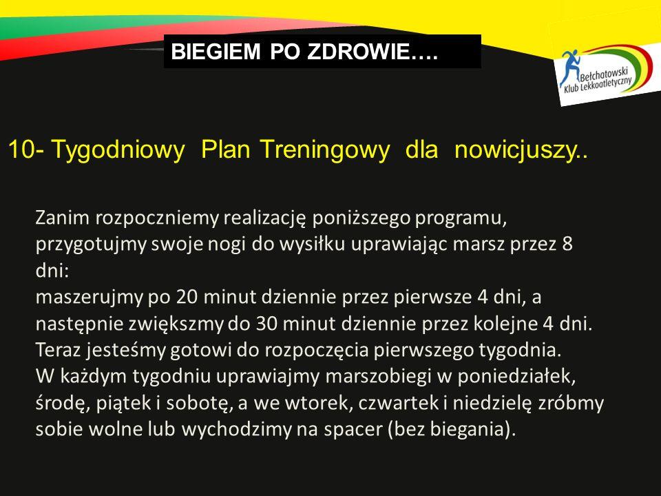 10- Tygodniowy Plan Treningowy dla nowicjuszy..
