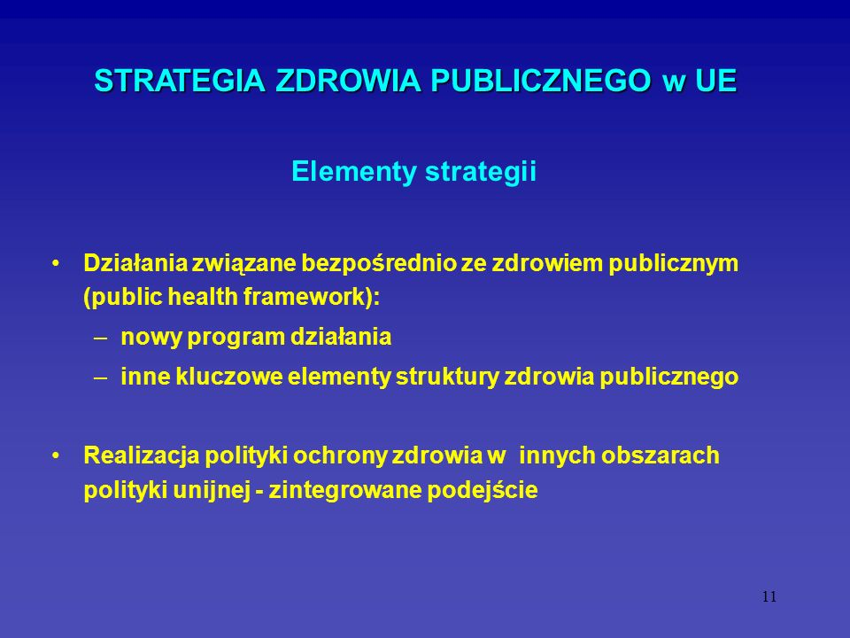 STRATEGIA ZDROWIA PUBLICZNEGO w UE