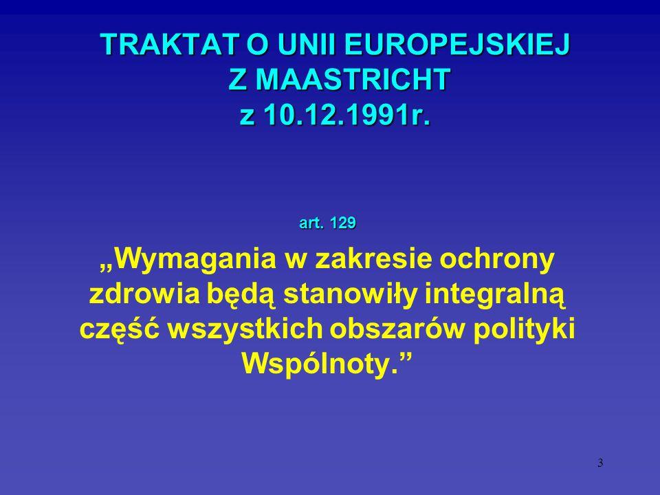 TRAKTAT O UNII EUROPEJSKIEJ Z MAASTRICHT z 10.12.1991r.