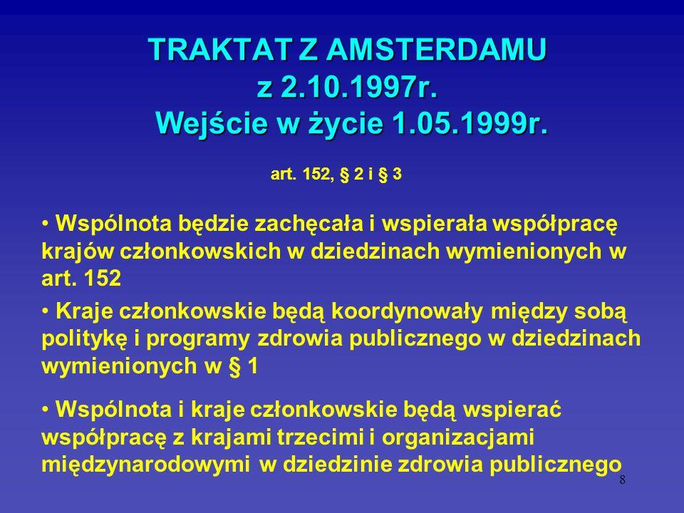 TRAKTAT Z AMSTERDAMU z 2.10.1997r. Wejście w życie 1.05.1999r.