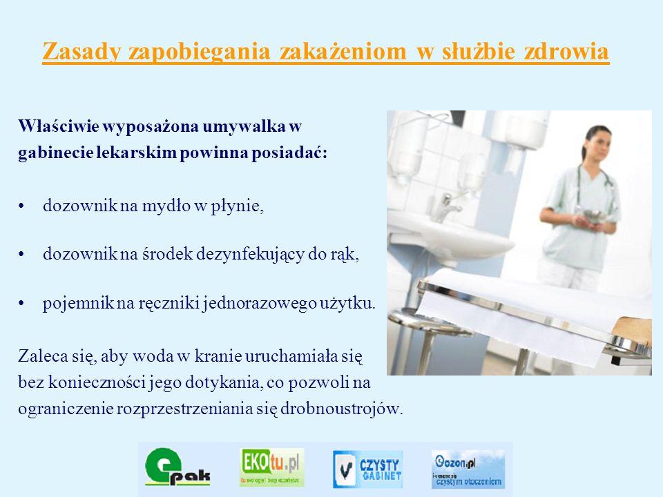 Zasady zapobiegania zakażeniom w służbie zdrowia