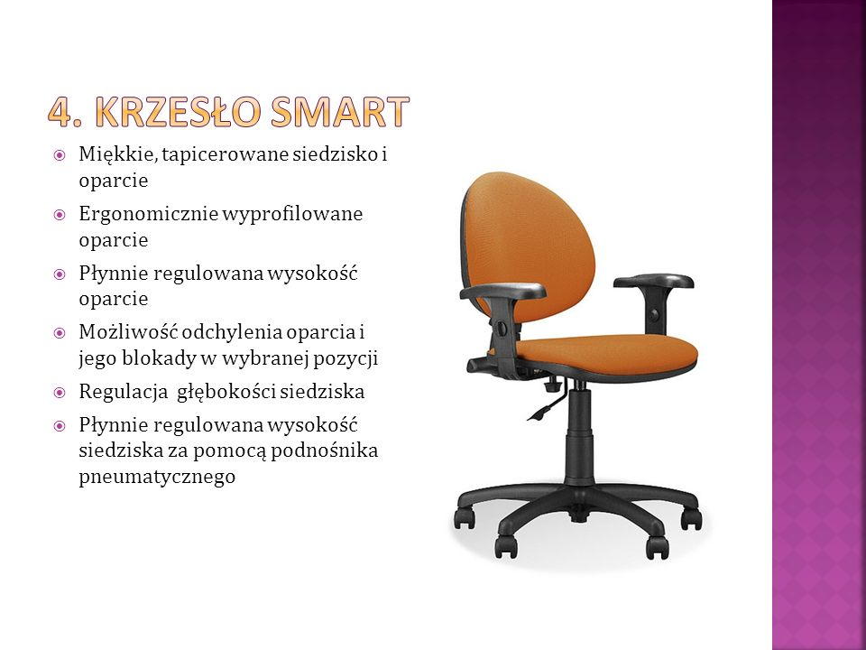 4. Krzesło Smart Miękkie, tapicerowane siedzisko i oparcie