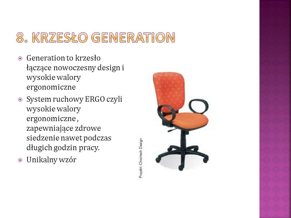 8. Krzesło generation Generation to krzesło łączące nowoczesny design i wysokie walory ergonomiczne.