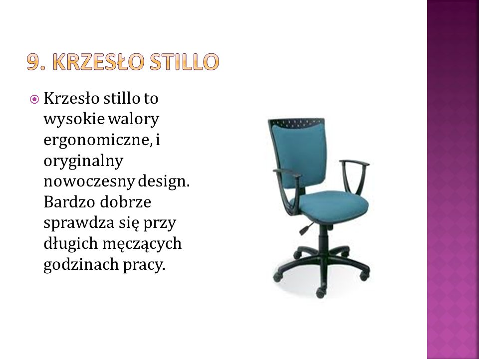 9. Krzesło stillo