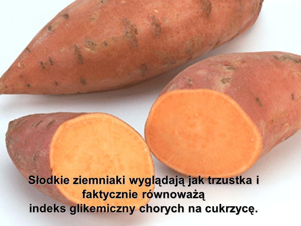 Słodkie ziemniaki wyglądają jak trzustka i faktycznie równoważą indeks glikemiczny chorych na cukrzycę.