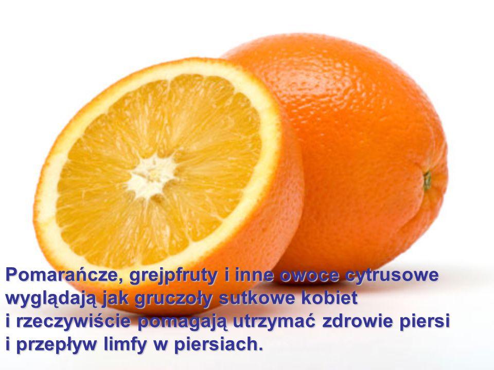 Pomarańcze, grejpfruty i inne owoce cytrusowe wyglądają jak gruczoły sutkowe kobiet