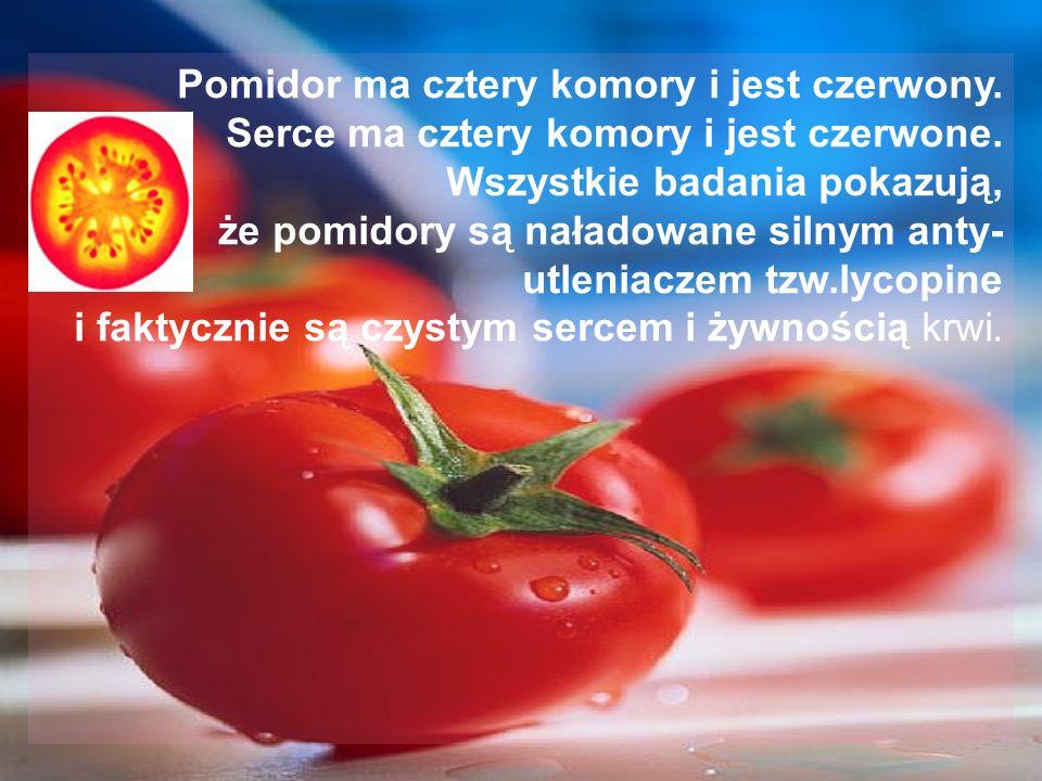 Pomidor ma cztery komory i jest czerwony