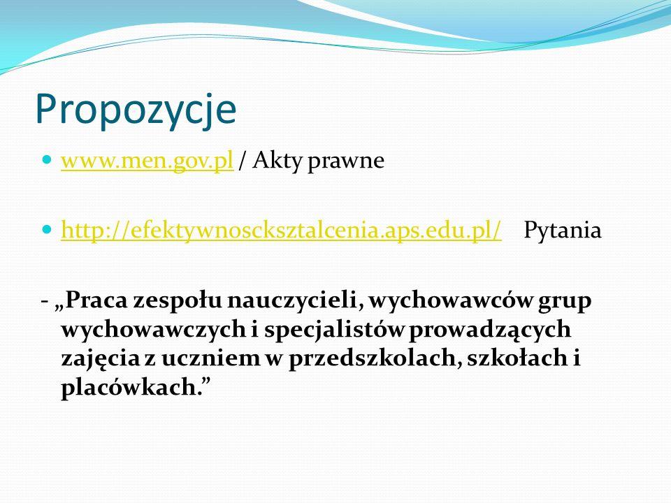 Propozycje www.men.gov.pl / Akty prawne