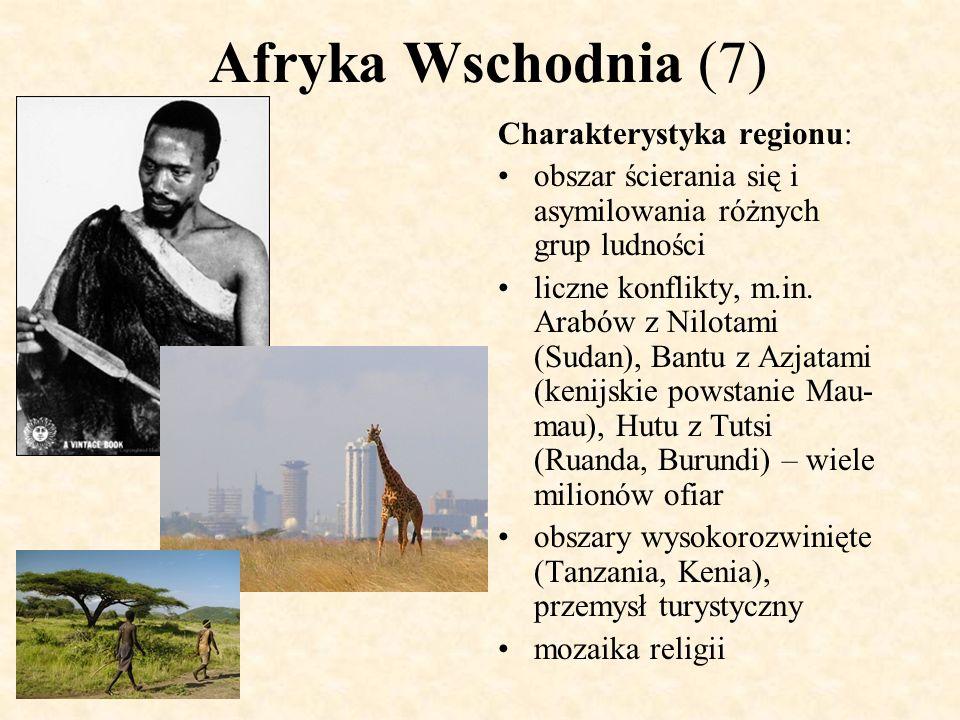 Afryka Wschodnia (7) Charakterystyka regionu: