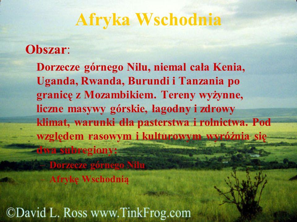 Afryka Wschodnia Obszar: