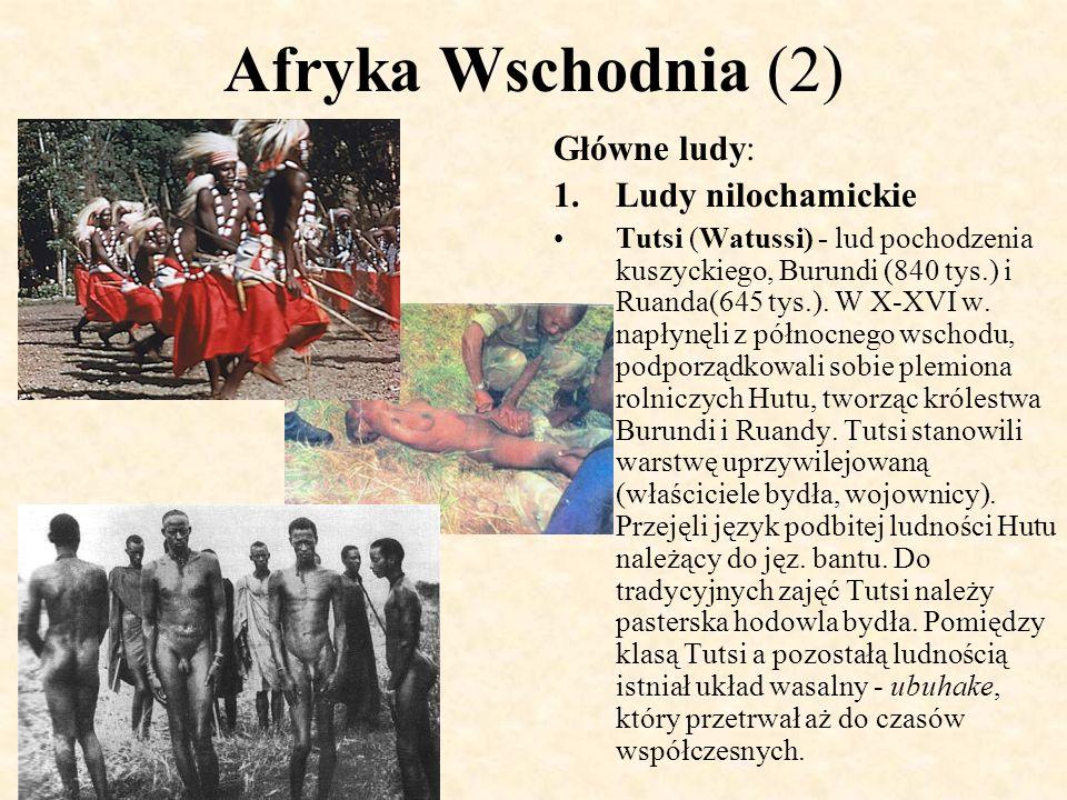Afryka Wschodnia (2) Główne ludy: Ludy nilochamickie