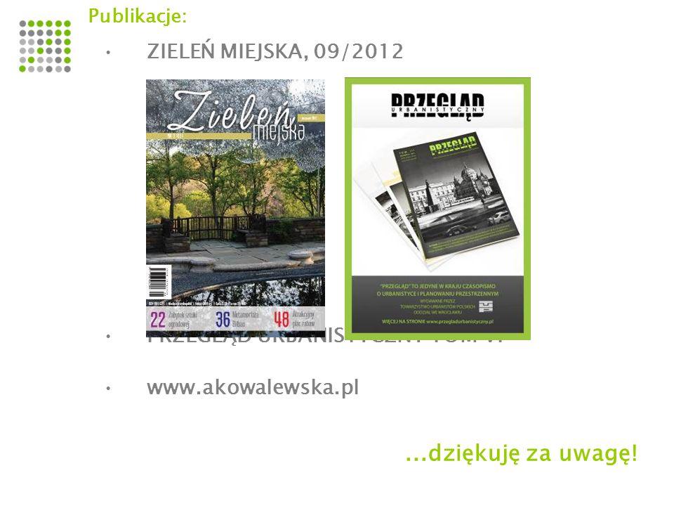 ...dziękuję za uwagę! ZIELEŃ MIEJSKA, 09/2012