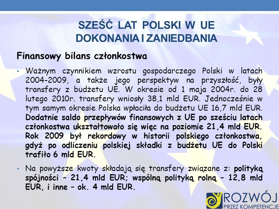 Sześć lat polski w UE dokonania i zaniedbania