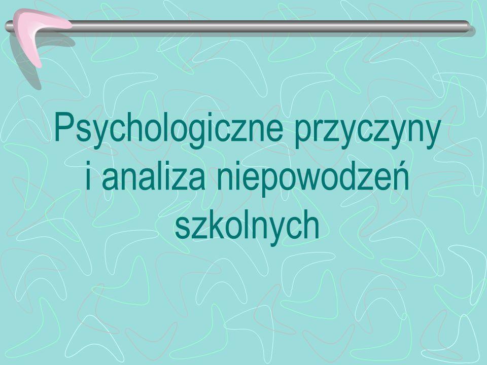 Psychologiczne przyczyny i analiza niepowodzeń szkolnych