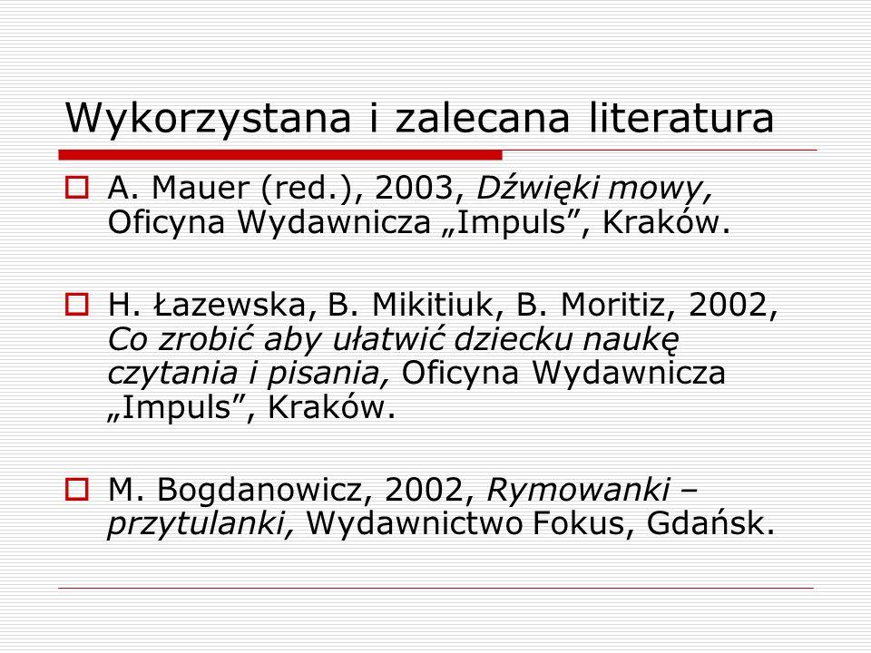 Wykorzystana i zalecana literatura