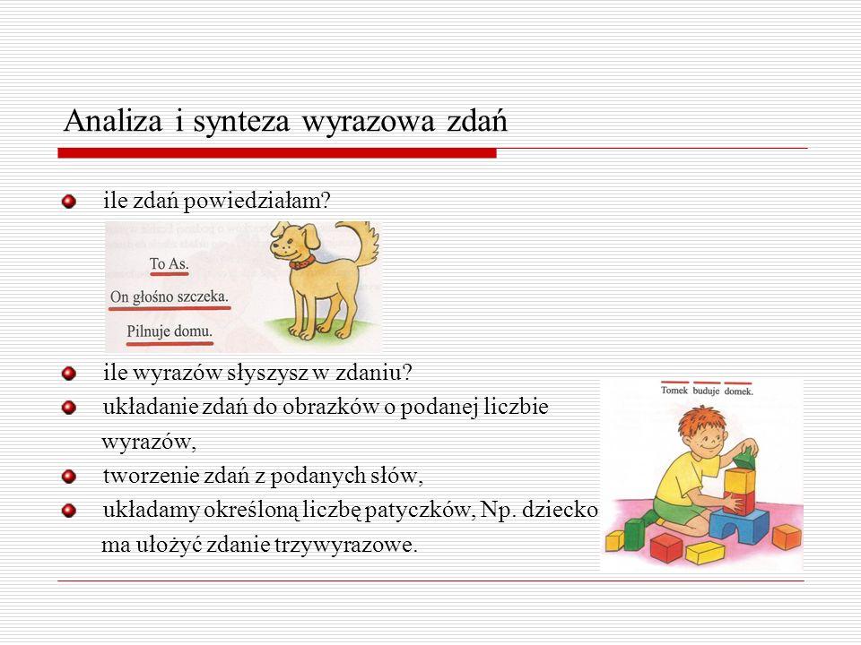 Analiza i synteza wyrazowa zdań