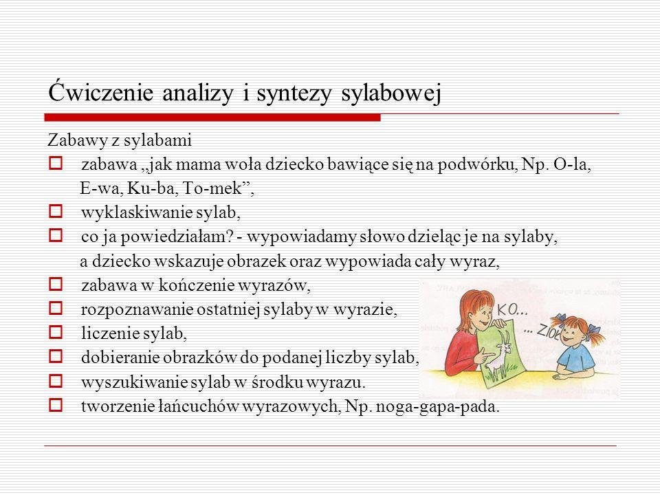 Ćwiczenie analizy i syntezy sylabowej