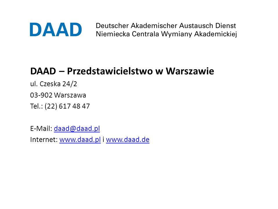 DAAD – Przedstawicielstwo w Warszawie