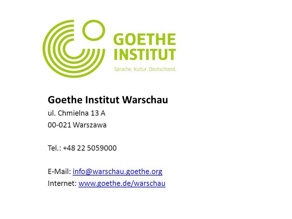 Goethe Institut Warschau