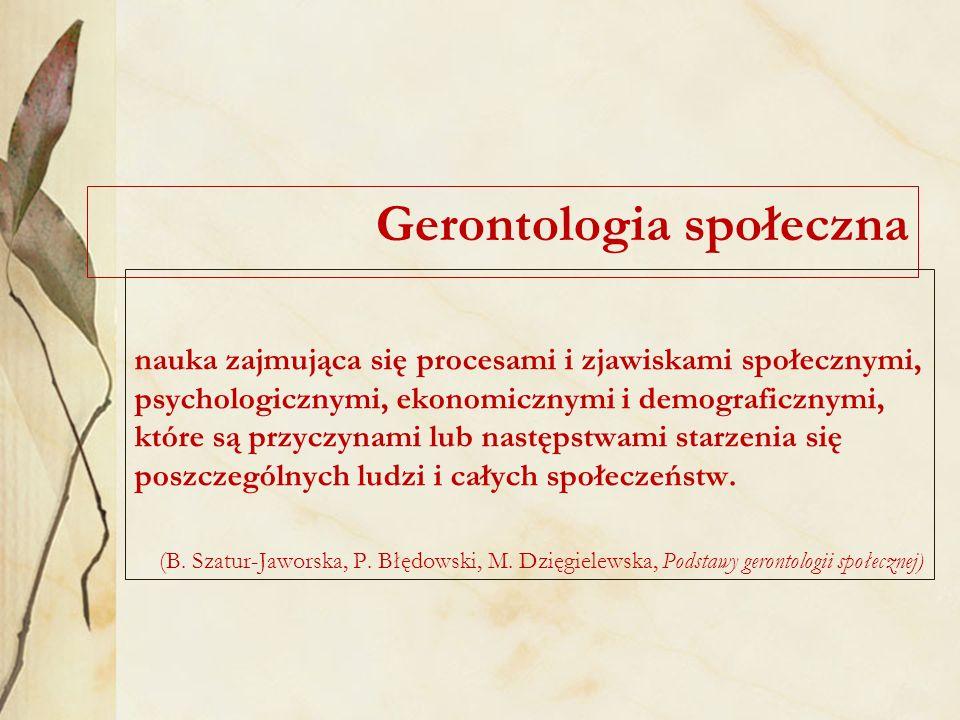 Gerontologia społeczna