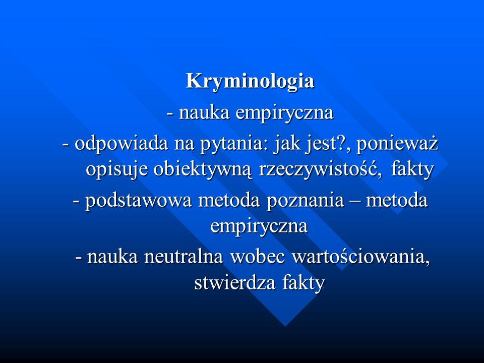 - podstawowa metoda poznania – metoda empiryczna