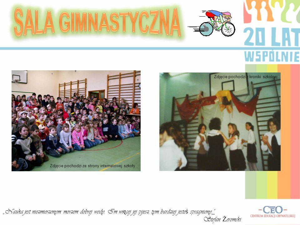 SALA GIMNASTYCZNA Zdjęcie pochodzi z kroniki szkolnej. Zdjęcie pochodzi ze strony internetowej szkoły.