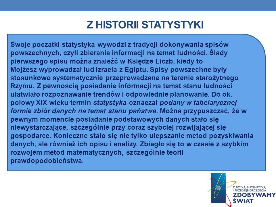 Z historii statystyki