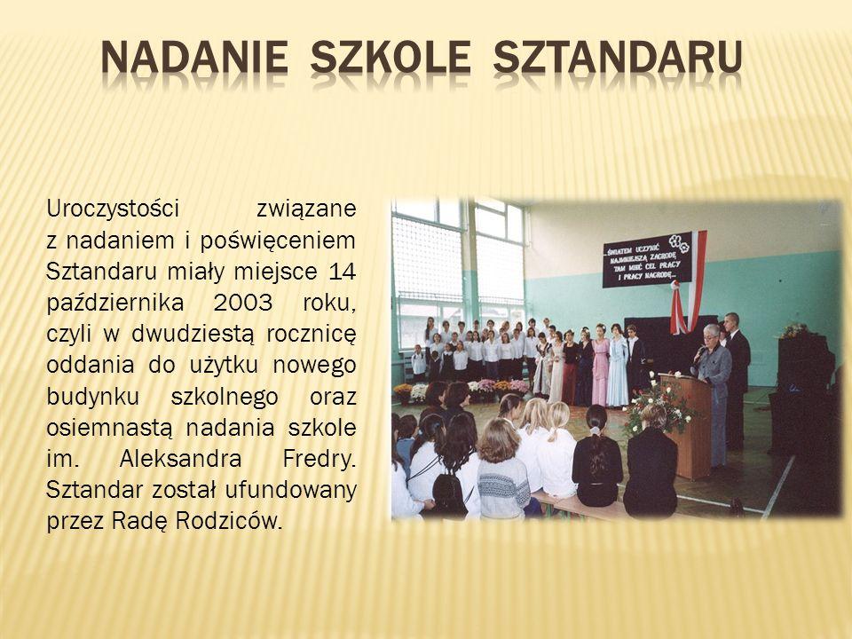 Nadanie szkole Sztandaru
