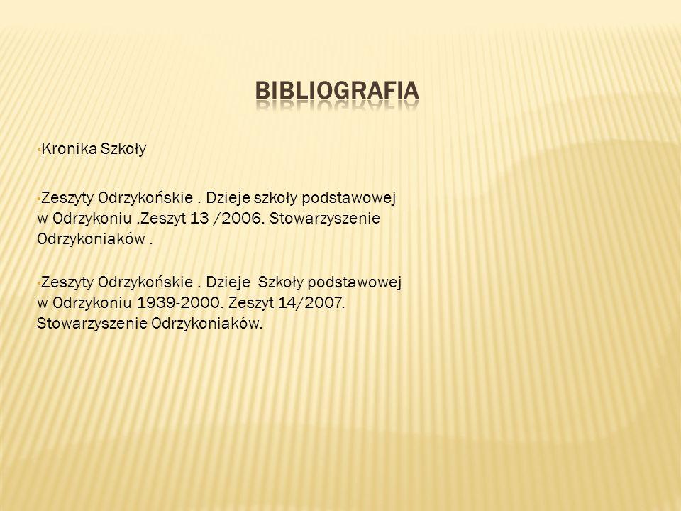 Bibliografia Kronika Szkoły