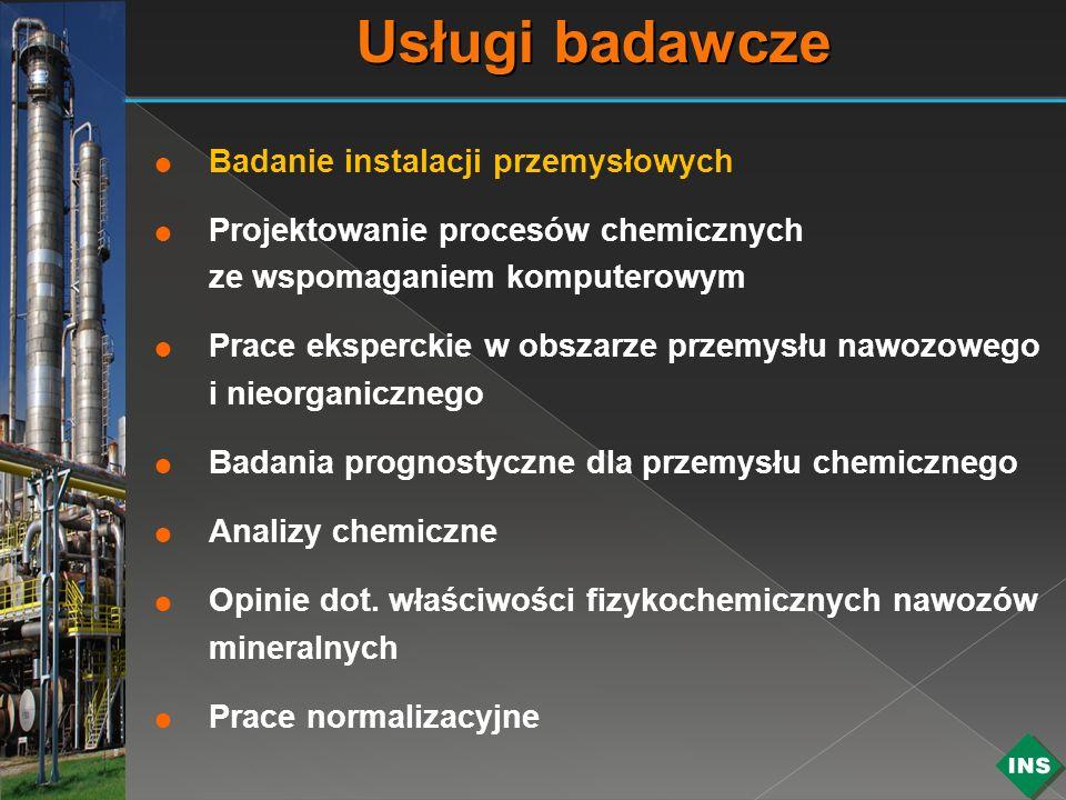 Usługi badawcze Badanie instalacji przemysłowych