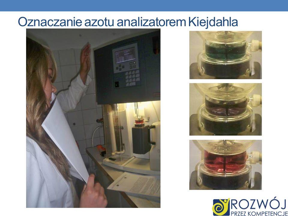 Oznaczanie azotu analizatorem Kiejdahla