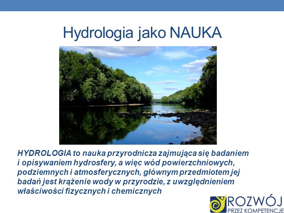 Hydrologia jako NAUKA