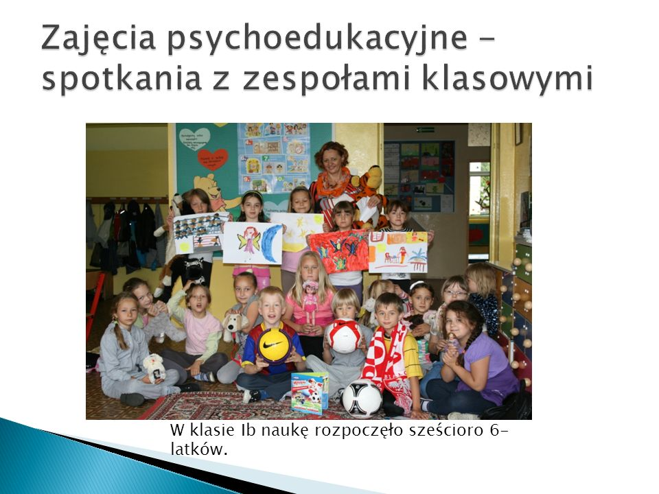 Zajęcia psychoedukacyjne - spotkania z zespołami klasowymi