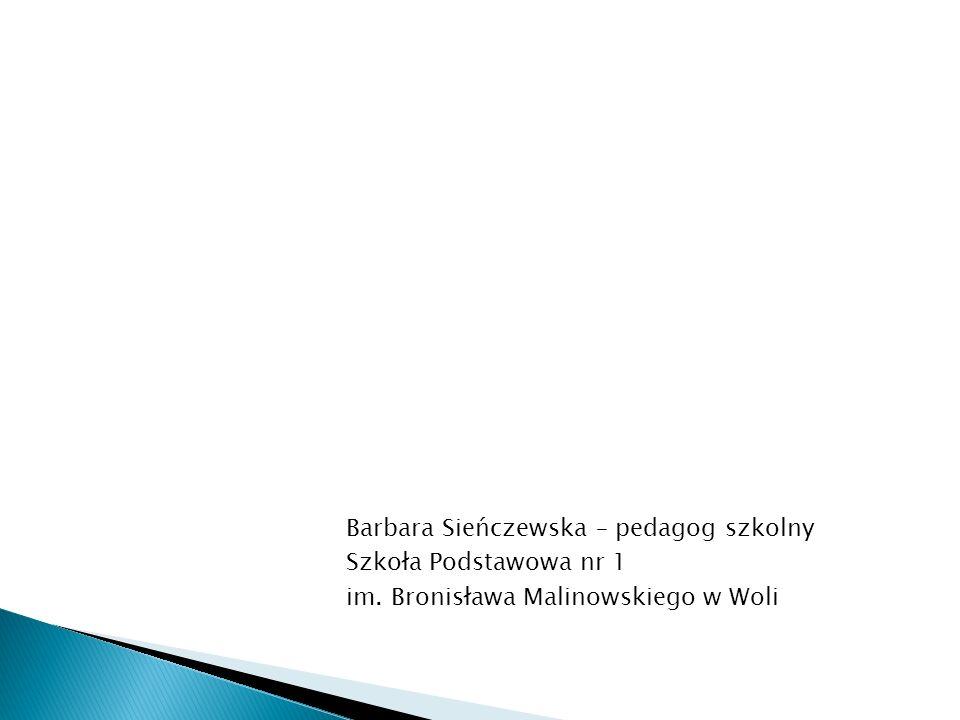 Barbara Sieńczewska – pedagog szkolny Szkoła Podstawowa nr 1 im