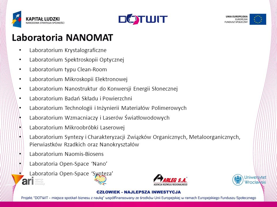 Laboratoria NANOMAT Laboratorium Krystalograficzne