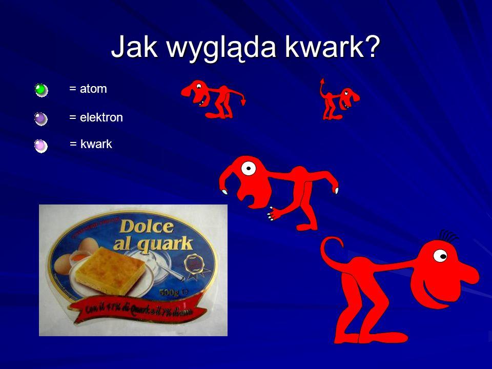Jak wygląda kwark = atom = elektron = kwark