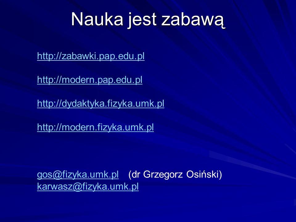 Nauka jest zabawą http://zabawki.pap.edu.pl http://modern.pap.edu.pl