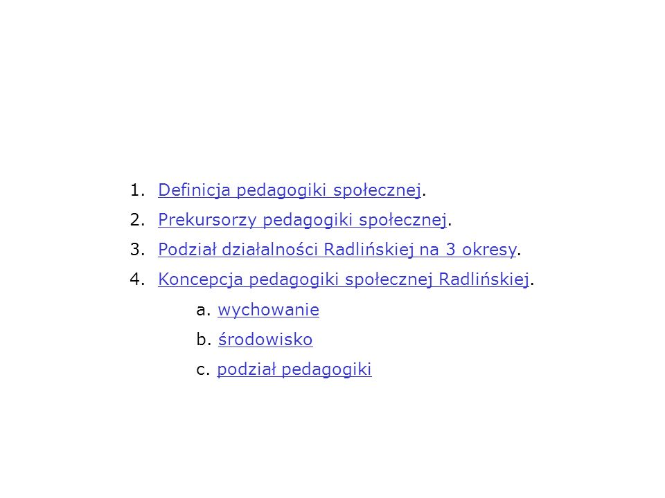 1. Definicja pedagogiki społecznej.