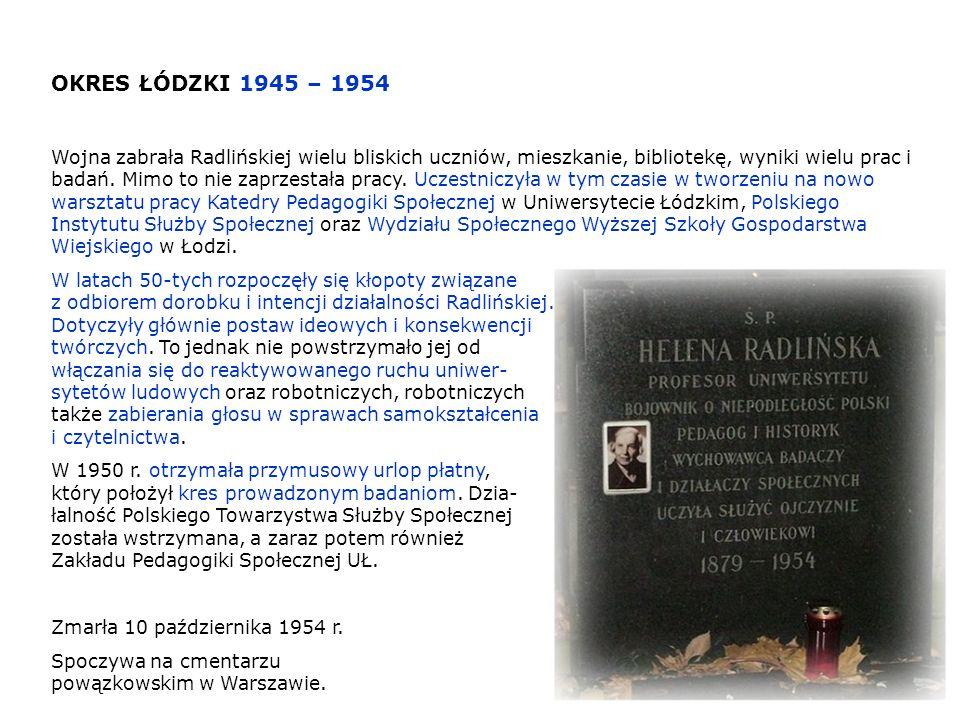 OKRES ŁÓDZKI 1945 – 1954