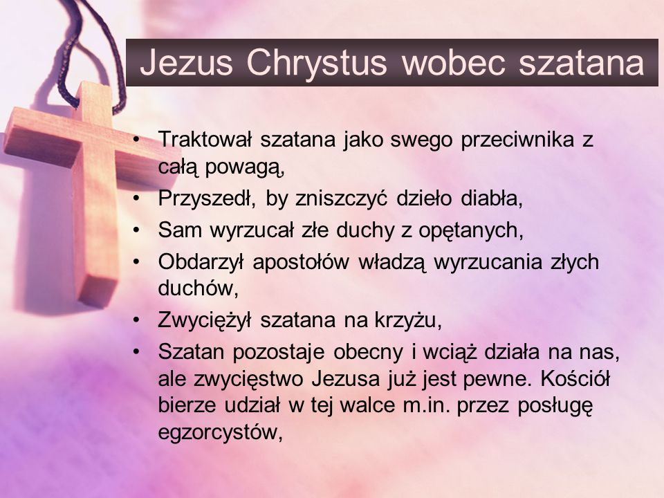 Jezus Chrystus wobec szatana