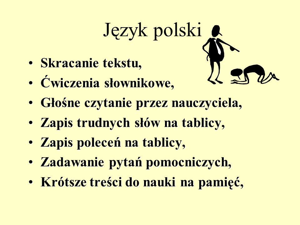 Język polski Skracanie tekstu, Ćwiczenia słownikowe,