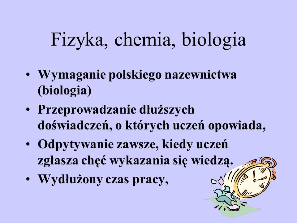 Fizyka, chemia, biologia