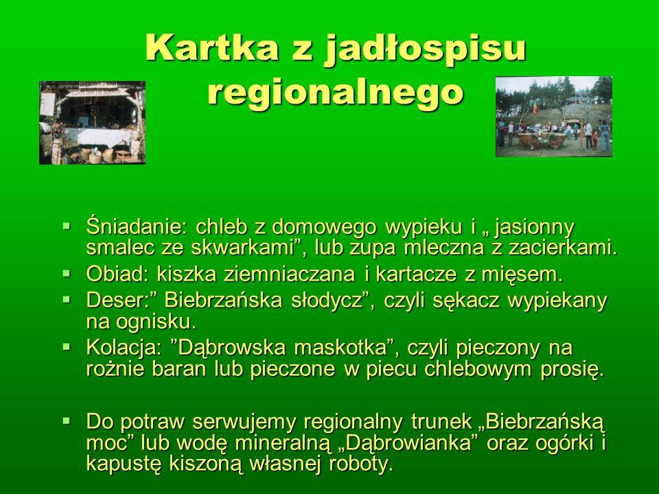 Kartka z jadłospisu regionalnego