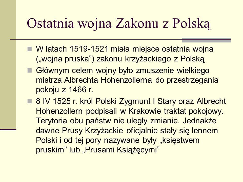 Ostatnia wojna Zakonu z Polską