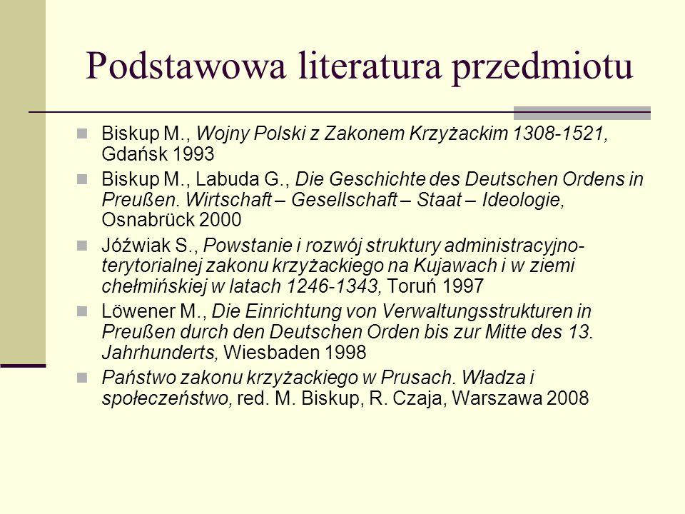 Podstawowa literatura przedmiotu