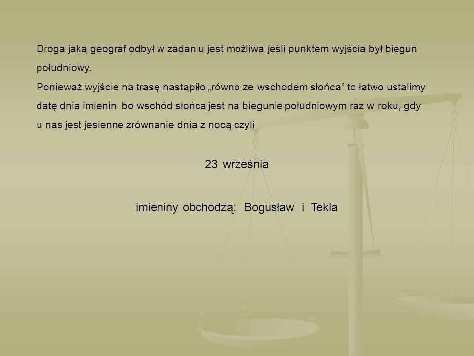 imieniny obchodzą: Bogusław i Tekla