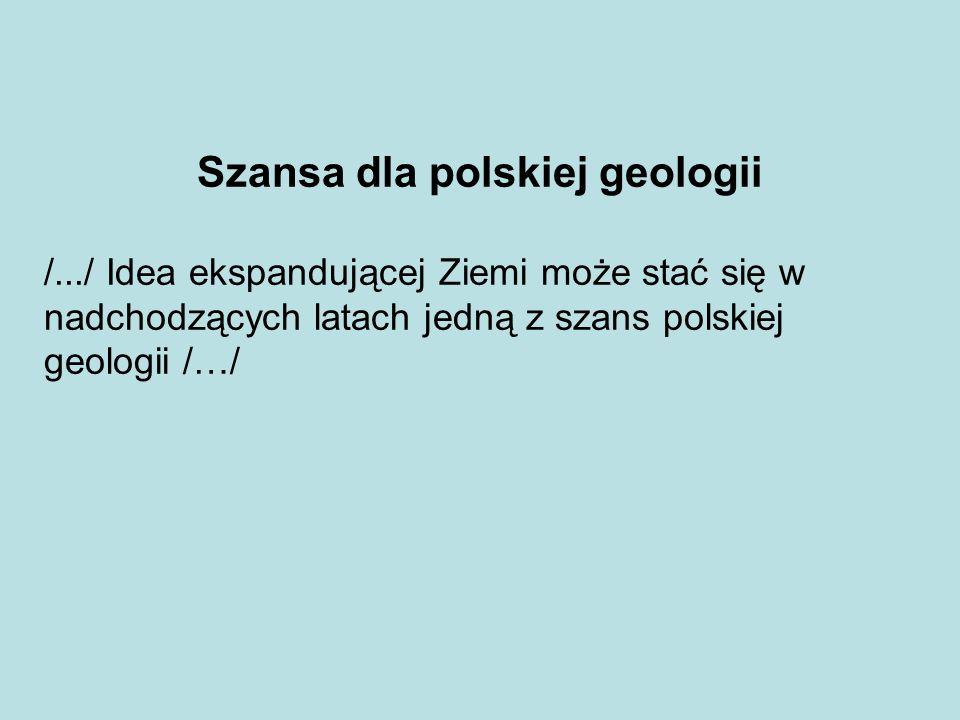 Szansa dla polskiej geologii